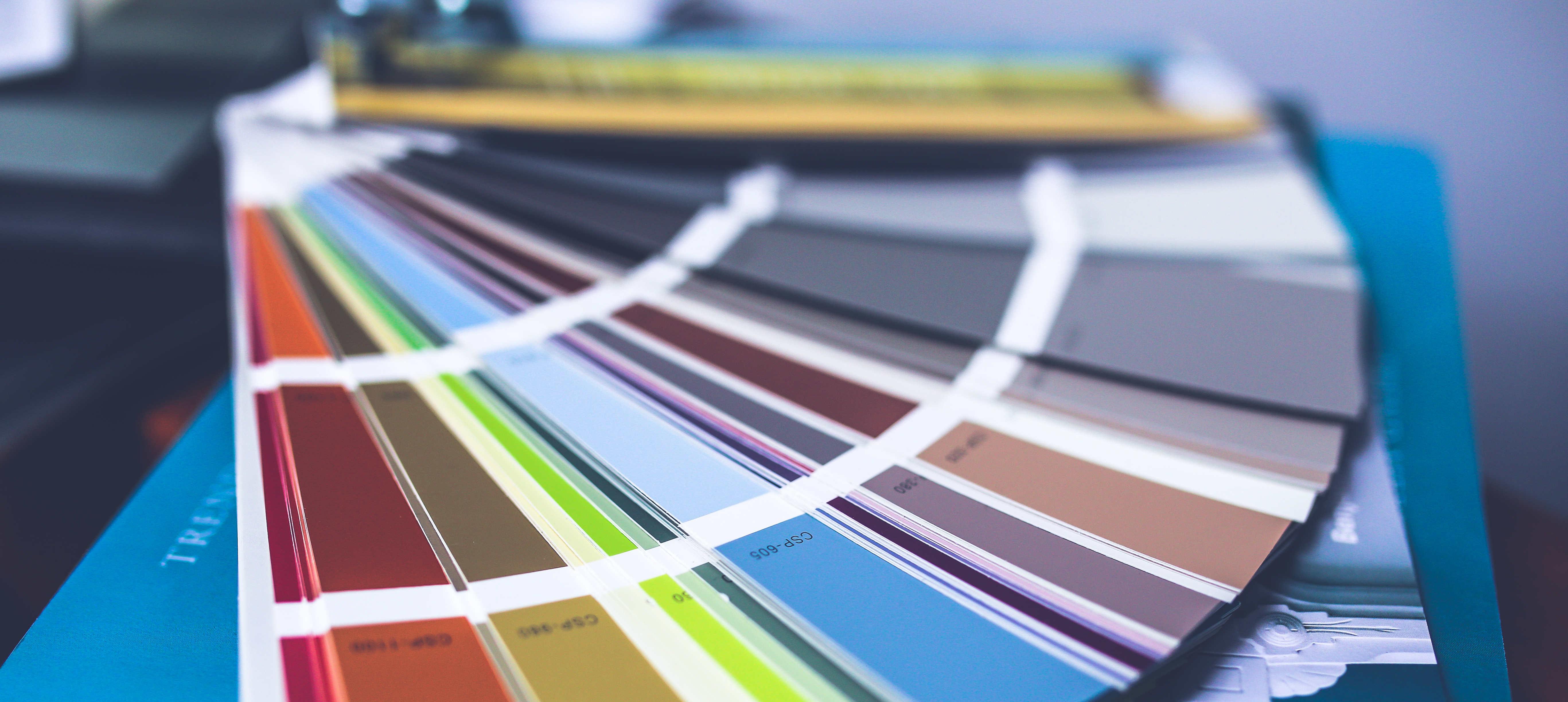Farbeferenzkarten Grafikdesign Print