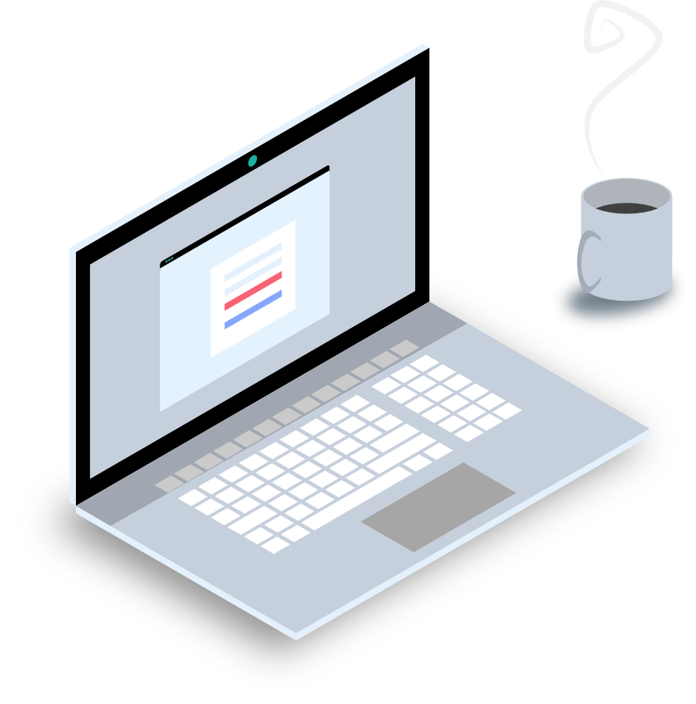 Laptop und Kaffeetasse symbolisieren den Alltag in der Arbeitswelt. Jedes Unternehmen hat heute IT und profitiert von guter IT Beratung